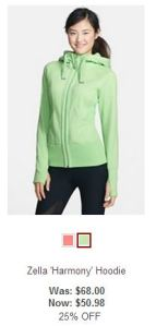 zella harmony jacket green on sale